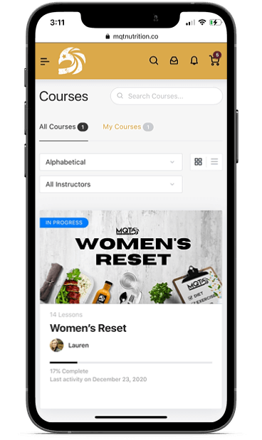 Courses Mock-up